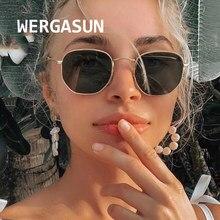 WERGASUN-gafas De Sol clásicas De Metal para mujer, anteojos De Sol femeninos De diseño De marca De lujo, para conducir, 2020
