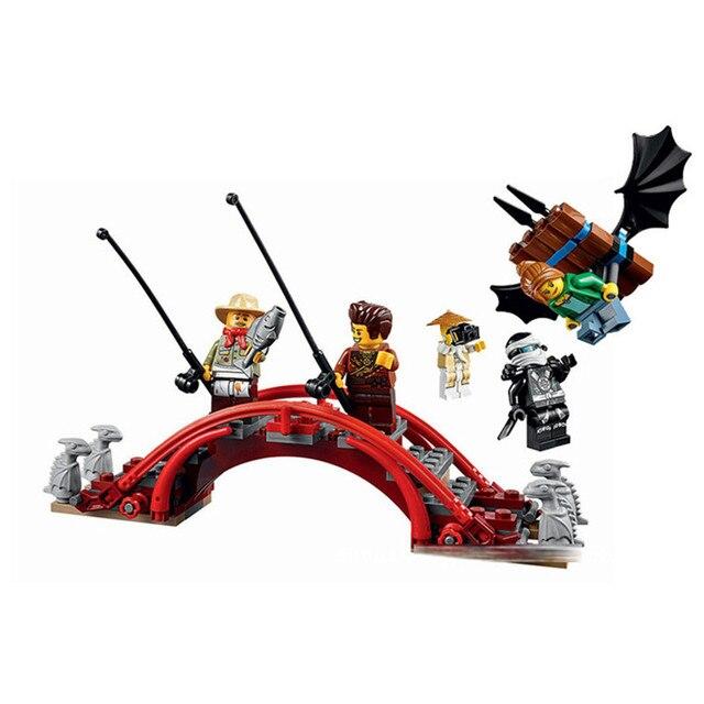 737pcs Diy Ninja Temple Of Airjitzu Ninjagoes Smaller Version Building Blocks Set Compatible With Lepining Toy For Kids Bricks 3