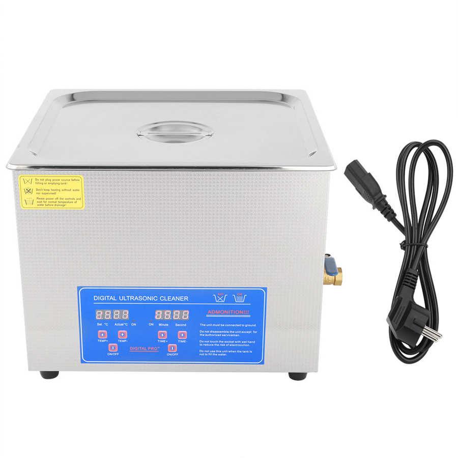15л Цифровой нержавеющей Ультразвуковой очиститель для ванной нагреватель таймер резервуара Высокая мощность машина для очистки дома