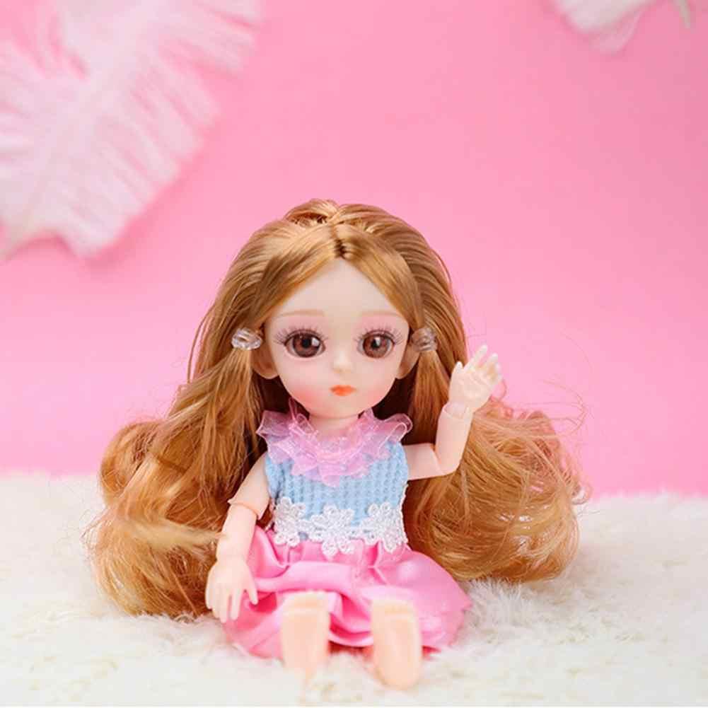 16 センチメートル/6.3IN 小さなプディング人形シミュレーション人形と 3D アクリル美容女の子のためのギフト