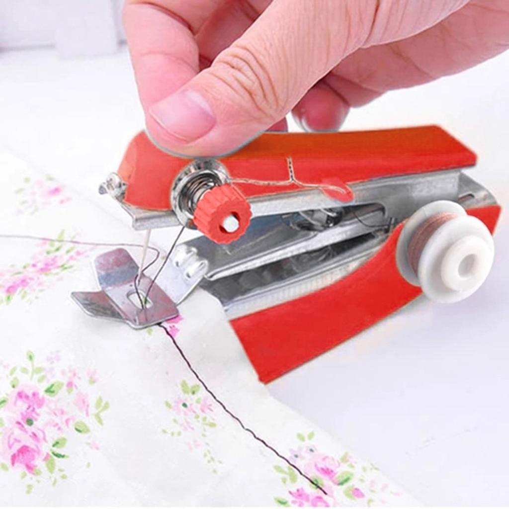 Ручное управление портативная мини-швейная машина креативные простые инструменты для шитья на открытом воздухе для дома путешествий мален...
