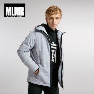 Image 1 - Jackjones Mannen Hooded Parka Jas Lange Gewatteerde Jas Jas Mode Menswear Basic 218309529