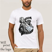 Marilyn Monroe Diamanti dövme iskelet DGA sanat David Gonzales Uomini ve T Shirt(China)