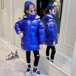 Image 1 - Hot Koop Xmas Meisjes Warme Winter Jas Kunstmatige Haar Lange Kids Capuchon Jas Voor Meisje Bovenkleding Meisjes Kleding 4 12 Y