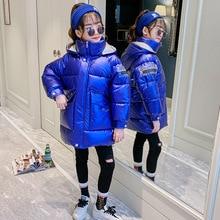 Vendita calda di Natale Delle Ragazze Caldo Cappotto di inverno Artificiale dei capelli Lunghi Bambini Giacca Con Cappuccio del cappotto per la ragazza della tuta sportiva delle ragazze Vestiti 4 12 y