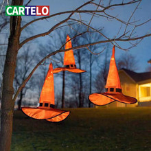 Wizard Hat Party-Hat CARTELO Ornament Suspended-Tree Glowing Dance Holiday Halloween