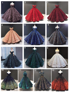 Image 5 - J66991 Meerdere Kleuren Beschikbaar Avondjurk 2020 Plus Size Off Shoulder Sweetheart Sequin Lange Shiny Prom Jurk