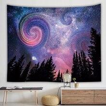 Galaxia romántica Hippie tapiz pared colgante Mandala cielo estrellado celeste psicodélico tapiz pared tela arte alfombra dormitorio Decoración