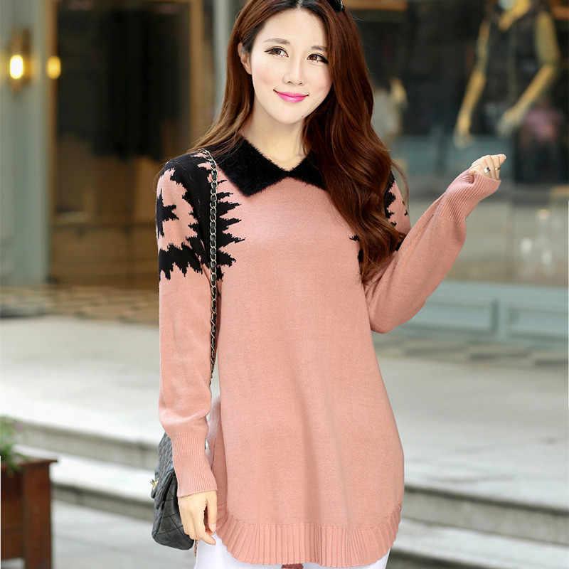 Sueter mujer camisola feminina plus size pulôver estilo coreano manga longa superior das mulheres roupas femininas blusas femme kj153
