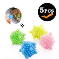 5pcs/set Magic Laundry Ball Anti-winding Decontamination Wash Ball Household Cleaning Clothes Wash Machine Starfish Wash Ball