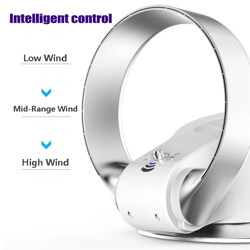 Non-blade Bladeless Fan 110V Multifunction Intellegent Bladeless Mute Fan Air Conditioning Cooling Fan With Remote Control