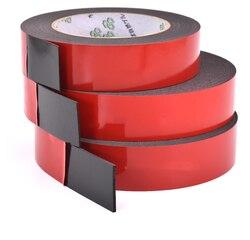 10 M Foam Dubbelzijdig Zelfklevende Tape Auto Speciale Sticker Twee Gezicht Scotch Super Sterke Waterdichte Zwarte Spons Muur licht Pe