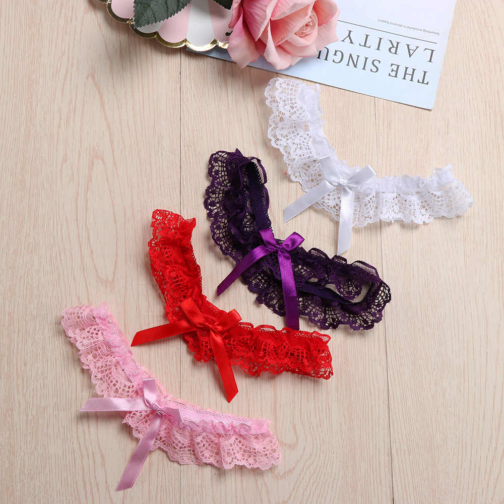 1PC Venda Quente Festa de Casamento Das Mulheres Sexy Lace Floral Leg Garter Belt Lingerie Cosplay Bowknot Suspender Moda Leg Garter