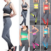 Yoga Set Women Sports Bra Top Leggings Pants Gym Sportswear Fitness Clothing Suit EDF88
