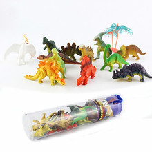 12pcs Mini Luminous Dinosaur Toy Jurassic Noctilucent Model Toys Kids Glow In The Dark Dinosaurs Best Gift for Boys