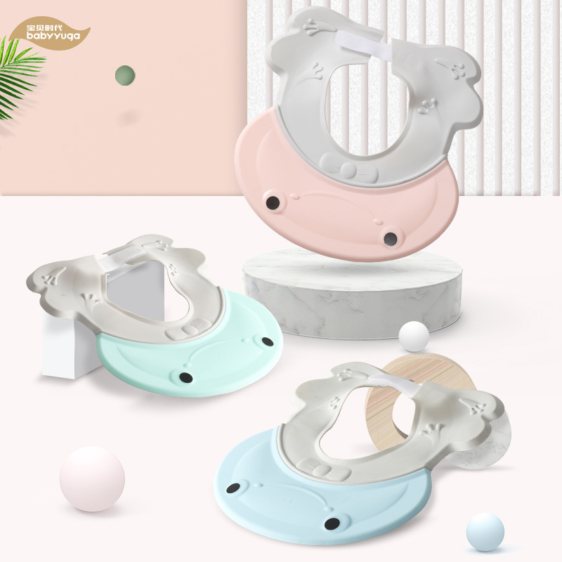 Baby Shower Cap Useful Product Infant Child Waterproof Earmuff Men And Women Kids Shower Cap Hair Bath Adjustable 0-3-10-Year-Ol