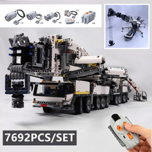 New MOC Power Mobile Crane Building LTM11200 RC Liebherr Technic Motor Kits Blocks Bricks birthday diy toy Gift new idea rc motor power functions wall e robot fit technic figures moc building block bricks diy toy gift kid birthday xmas