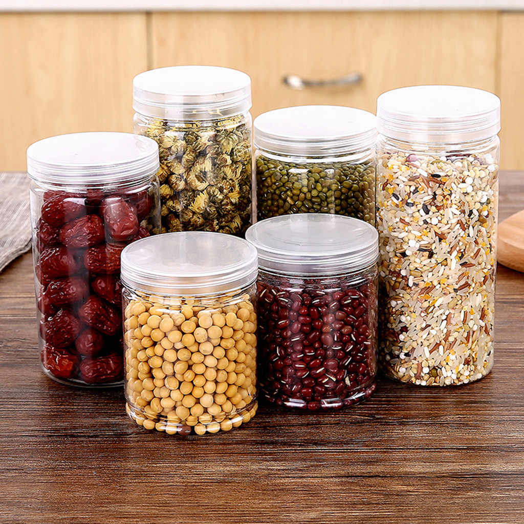 Kitchen Storage soybean Box Sealing Food Preservation Plastic Fresh Pot Container Organizers Storage bottles cans #103