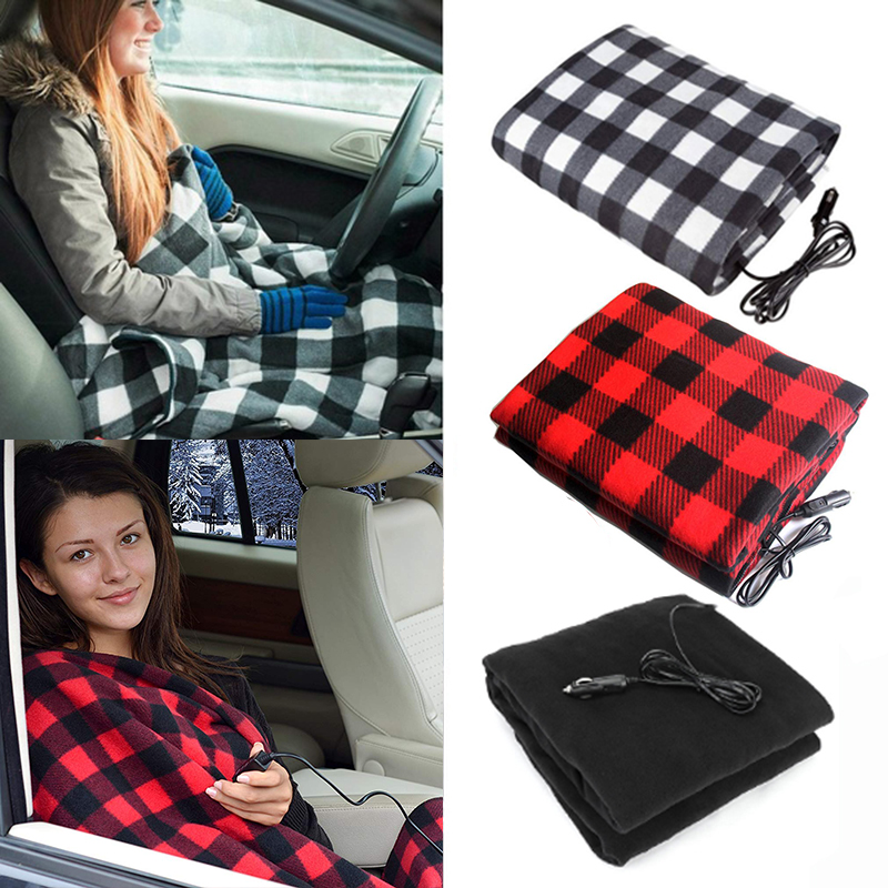 Electric Heated Throw Blanket Energy Saving Warm 12V Car Heating Blanket for Autumn and Winter