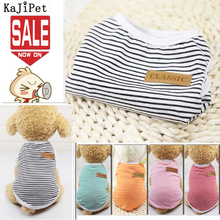 Classic Stripe Dog Shirt Cheap Dog Clothes For Small Dogs Summer Chihuahua Tshirt Cute Puppy Vest Terrier Pet Clothes for Dog