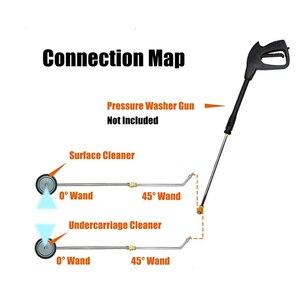 Image 4 - Hochdruck Washer Auto Waschen Chassis Washer 16 zoll Wasser Besen Mit 45 Grad Winkel Bar 4000 PSI