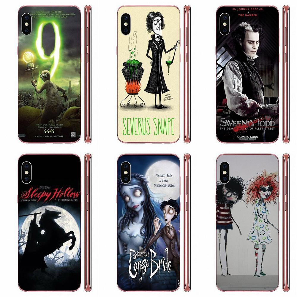 Movie Tim Burton Soft Accessories <font><b>Case</b></font> For <font><b>Samsung</b></font> Galaxy Note 8 9 10 Pro S4 <font><b>S5</b></font> S6 S7 S8 S9 S10 S11 S11E S20 Edge Plus Ultra image