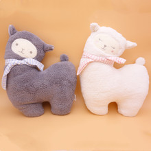 Cartoon Warm Alpaca Plush Toy Child Soothing Animal Stuffed Sofa Pillow Cushion Home Decoration