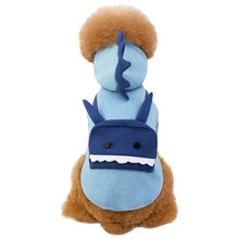 Winter Pet Clothes Cat Dog Clothing For Large Medium Small Dog Puppy Pet Cold Protection Robot Print Clothes Dog Dinosaur Coat(China)