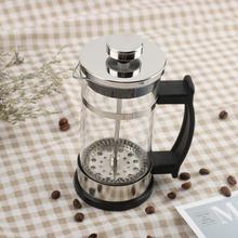 Household Coffee Tea Pot Stainless Steel Glass French Press Pot Filter Cafetiere Tea Coffee Maker Kitchen Tools chinaguangdong bear ysh b18t1 glass health coffee pot 1 5l household multifunction electric water kettle tea pot 220 230 240v