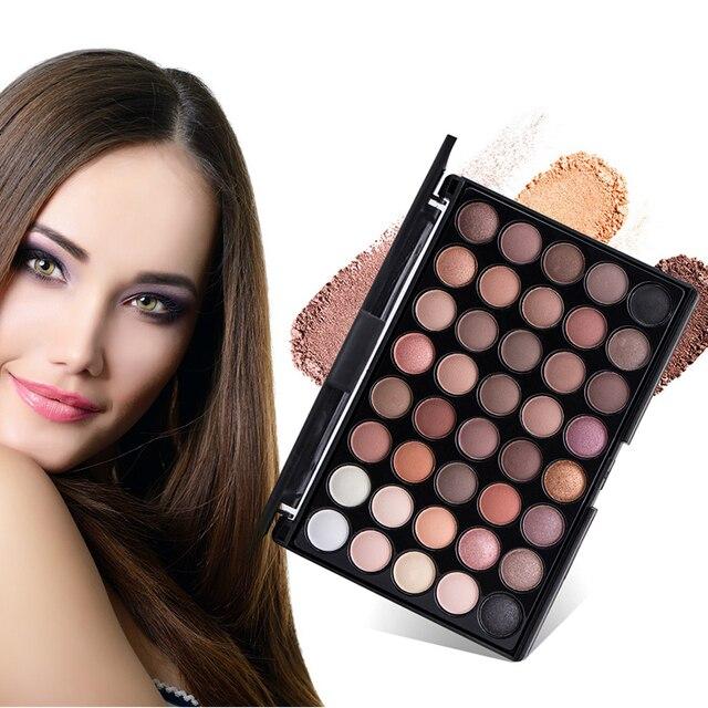 40 Colors Earth Color Eyeshadow Pallete Makeup Long Lasting Matte Eye Shadow Palette Pearl Shimmer Makeup Cosmetic Set Professio