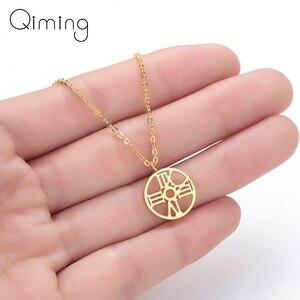 Small Round Clock Necklace Women Men Jewelry Tiny Gold fashion Clock Pendant Necklace Arabic Jewelry Accessories