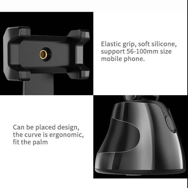 Smart Shooting Selfie Stick Smartphone Holder Mount 360 Rotation Auto Face Tracking Object Tracking vlog Camera Phone Holder 4