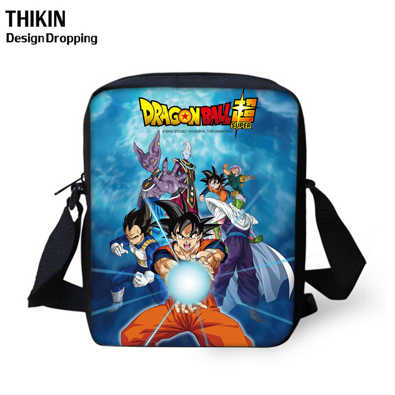 THIKIN 2019 Hot Sale Mini Messenger Bags Anime Dragon Ball Bags Son Goku Crossbody Bags For Women Girls School Shoulder Bag
