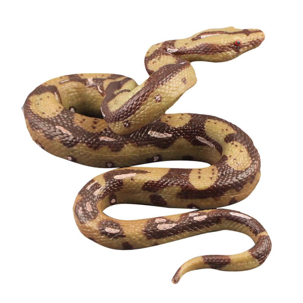 High Simulation Python Model Toy Big Realistic Snake Halloween Tricky Creepy Prank Scary Snake Funny Toy