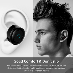 Image 2 - Mini Bluetooth Earphone 5.0+EDR With Dual Mic Sports Waterproof 3D Stereo Earphones Auto Pairing Headset TWS Wireless Earbuds
