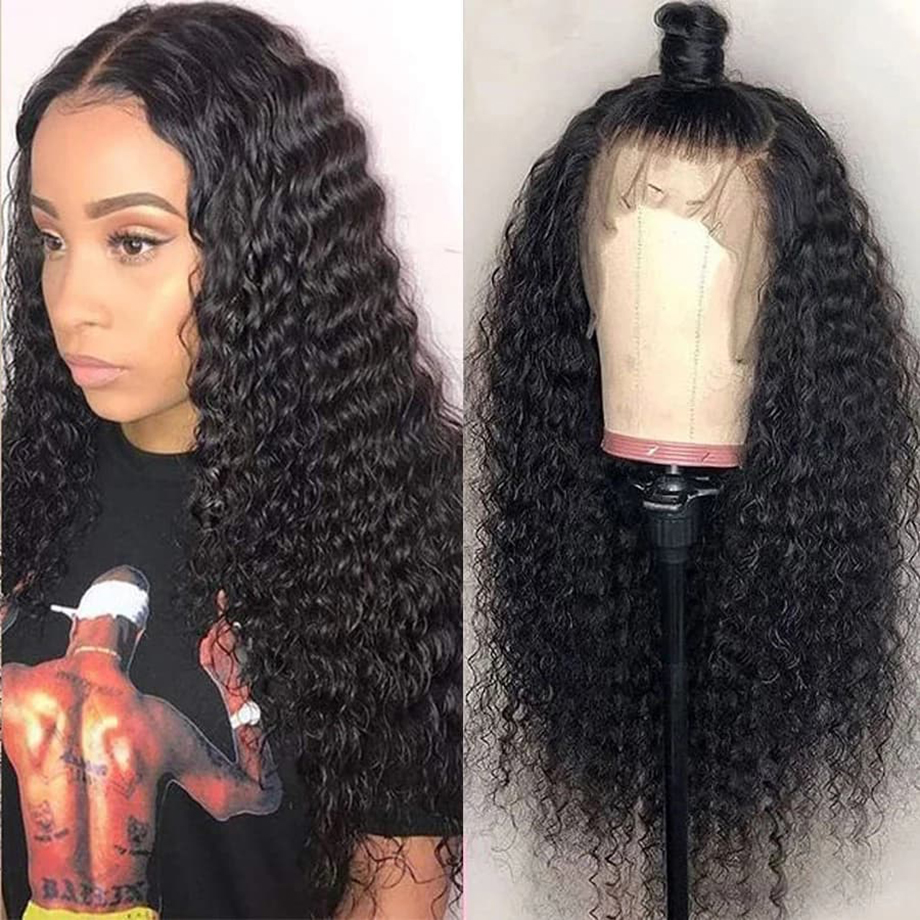 Deep Wave Wig Lace Front  Wigs   Short Bob Frontal Curly Human Wigs 30 Inch Water Wave Wig 2