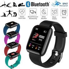 Умные часы bluetooth 116 plus спортивный фитнес трекер монитор