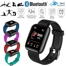 Smart Watch Bluetooth 116 Plus Sport Fitness Tracker Heart Rate Monitor with SIM Card  Touch Screen Bracelet for Android IOS gzdl smart watch for ios android phone gt88 sim card bluetooth camera heart rate monitor fitness tracker nfc wristwatch wt8002