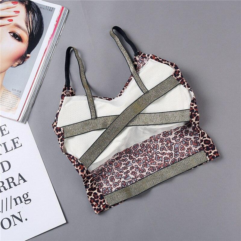 Leopard Women Tube Top Seamless Bra Fashion Beauty Back Bra Backless Sexy Wrap Top Tanks Underwear Bandeau Top
