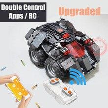 цена на New MOC APP RC Power Up App-controlled Batman Fit Legoings Technic Motor Batmobile Car Building Blocks Bricks Toys Gift Kid