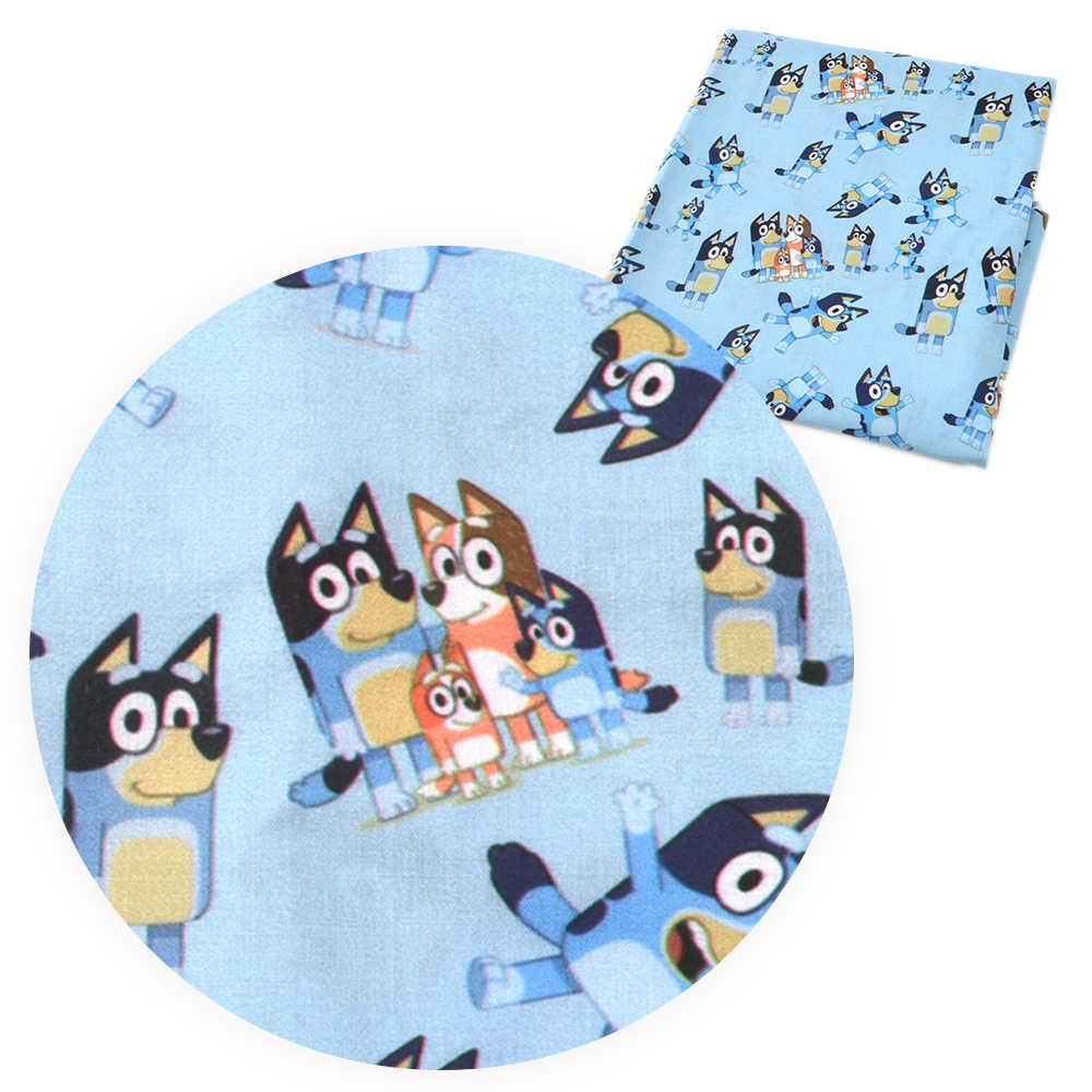 50*140cm Polyester pamuk kumaş için elbise kız karikatür köpek baskılı kumaş dikiş kapitone kumaşlar Patchwork DIY,c8784