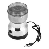 Moinho de café 220 v moinho de aço inoxidável moer grãos nozes temperos plugue da ue|Moedor de café manual| |  -