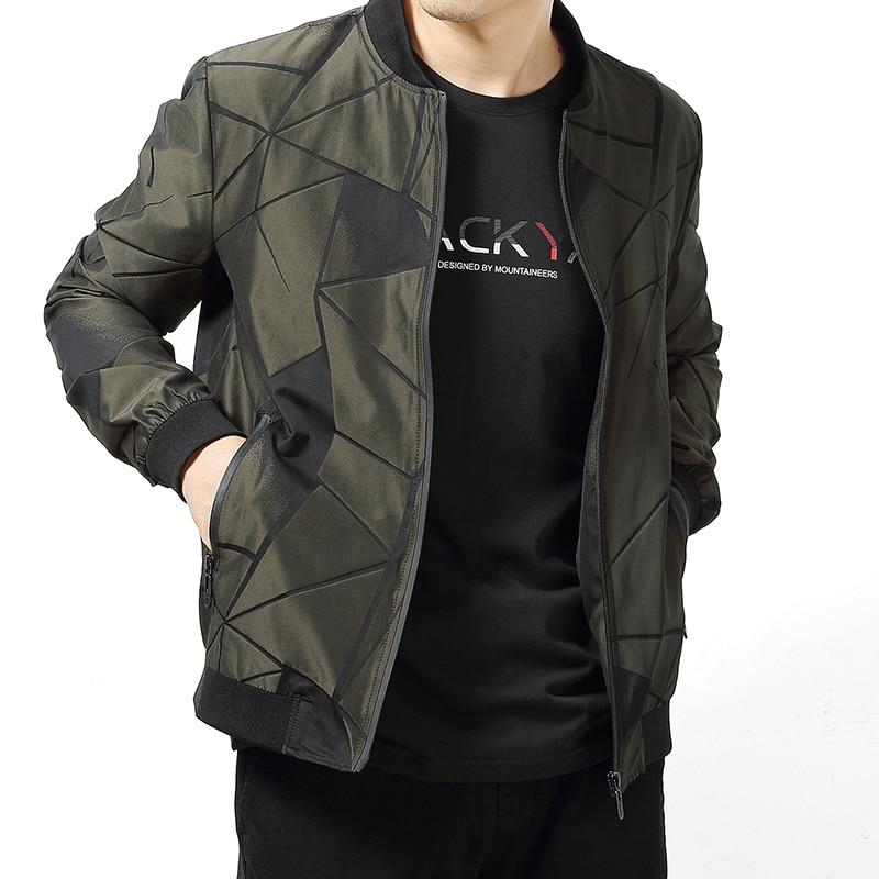 Pop Spring Autumn Men Jackets Long Sleeve Slim Plus Size L-6XL Coat Men Zipper Embossing Jackets Male VogueCoats Jackets