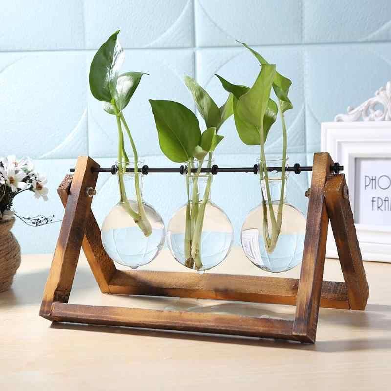 Sáng Tạo Terrarium Thủy Canh Vật Có Trong Suốt Bằng Gỗ Bình Khung Gỗ Bình Decoratio Bàn Kính Vật Có Hoa Cây Cảnh Trang Trí Bình Hoa