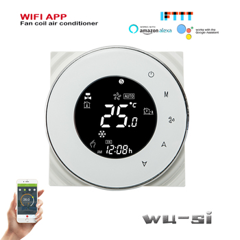 WIFI fan coil thermostat- 2Pipe cool or heat,24VAC 95-240VAC