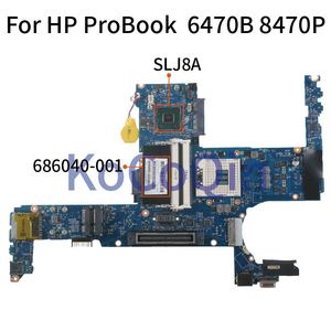 KoCoQin Laptop motherboard For HP ProBook 6470B 8470P Mainboard 6050A2466401 686040-001 686040-501 SLJ8A