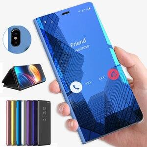 Flip mirror skórzany futerał na telefon do Huawei honor 20 lite honor 20 20 lite luksusowy oryginalny przezroczysty pokrowiec etui