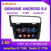 Factory direct sale OTOJETA Android 9.0 Car Multimedia Radio For 2016 Golf 7 GPS headunit video tape recorder Navigation Gray