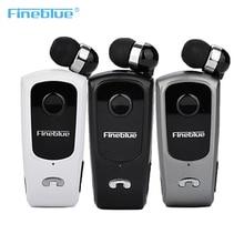 Originele Fineblue F920 Intrekbare Draadloze Bluetooth Headset Koptelefoon Handsfree Stereo Hoofdtelefoon Clip Mic Telefoontje Draagbare