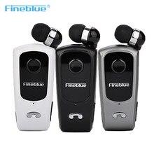 Original fineblue f920 retrátil sem fio bluetooth fone de ouvido fones de ouvido estéreo handsfree clipe mic chamada telefone portátil